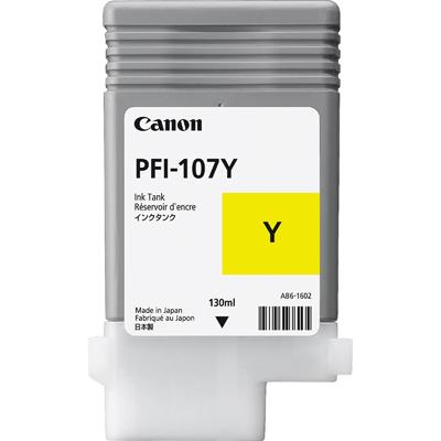 Canon 107Y Yellow Original Blækpatron Canon imagePROGRAF IPF 670 | InkNu