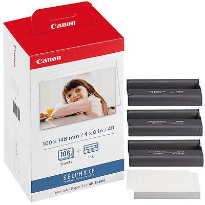 Canon KP-108IN Blæk/Papir Sæt Postkort Størrelse – 108 Print Canon Selphy CP 1000 | InkNu