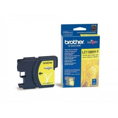 Brother LC-1100HY-Y Yellow Original Blækpatron Brother DCP 6690 | InkNu