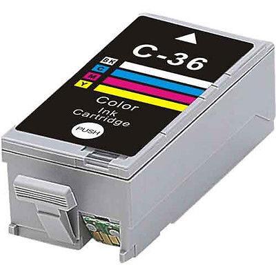 Canon CLI-36 C/M/Y Farve Kompatibel Blækpatron Canon PIXMA iP100 | InkNu