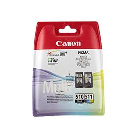 Canon PG-510+CL-511 BK/C/M/Y Original Blækpatroner Canon PIXMA iP2700 | InkNu
