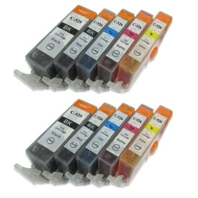 Canon PGI-525XL PGBK+CLI-526XL 10 stk. Kompatibel Multipack – 170ml Canon PIXMA iP4850 | InkNu
