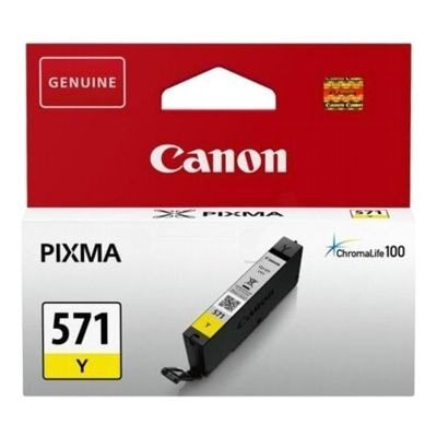 Canon CLI-571Y Yellow Original Blækpatron Canon PIXMA MG5750 | InkNu