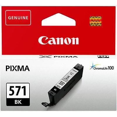 Canon CLI-571BK Black Original Blækpatron Canon PIXMA MG5750 | InkNu
