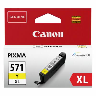 Canon CLI-571XL Yellow Original Blækpatron Canon PIXMA MG5750 | InkNu
