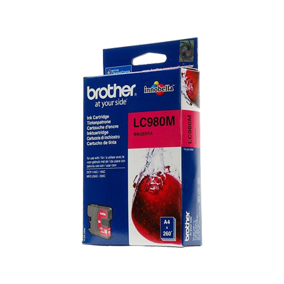Brother LC-980M Magenta Original Blækpatron Brother DCP 145 | InkNu