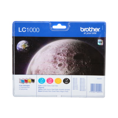 Brother LC-1000 Multipack Original Blækpatron Brother DCP 130C | InkNu