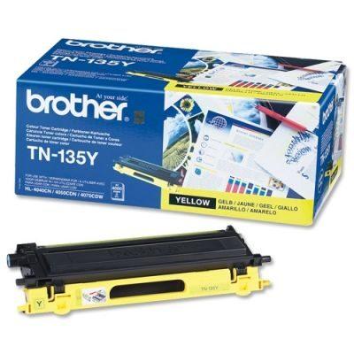 Brother TN-135Y Yellow Original Tonerkassette Stor Kapacitet Brother DCP 9040 | InkNu