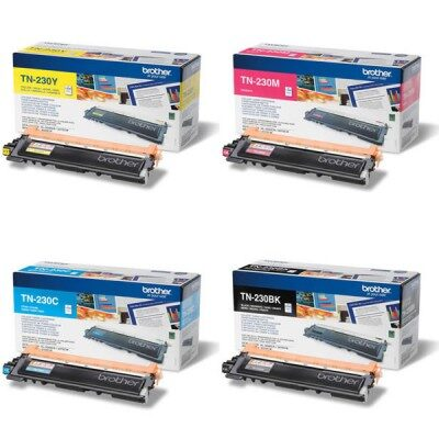 Brother TN-230 C/M/Y/BK Original 4-Pack Tonerpakke Brother DCP 9010 | InkNu