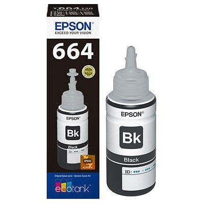Epson T6641 Black EcoTank Ink Bottle 70ml. Original Epson EcoTank ET-14000 | InkNu