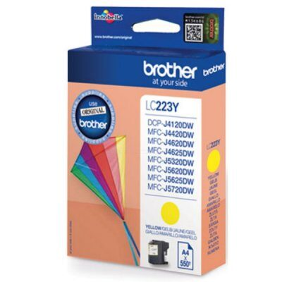 Brother LC-223Y Yellow Original Blækpatron Brother DCP-J 4120 | InkNu