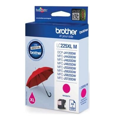 Brother LC-225XL Magenta Original Blækpatron Brother DCP-J 4120 | InkNu