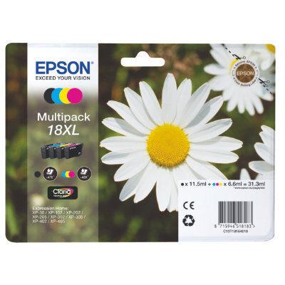 Epson 18XL Multipack Original Blækpatron Epson Expression Home XP 102 | InkNu
