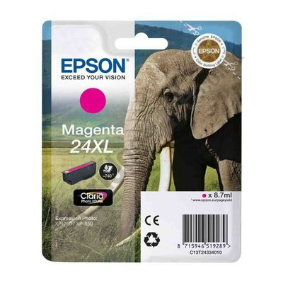 Epson 24XL Magenta Original Blækpatron Epson Expression Home XP 55 | InkNu