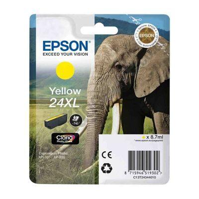 Epson 24XL Yellow Original Blækpatron Epson Expression Home XP 55 | InkNu