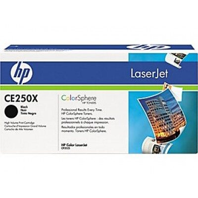 HP CE250X Black Original Tonerpatron HP Color LaserJet CM 3530 | InkNu