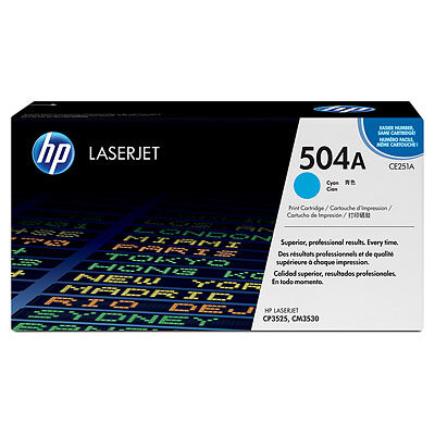 HP CE251A Cyan Original Tonerpatron HP Color LaserJet CM 3530   InkNu
