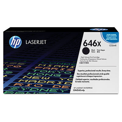 HP CE264X Black Original Tonerpatron HP Color LaserJet CM 4540 | InkNu