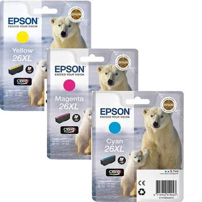 Epson 26XL Cyan Original Blækpatron Epson Expression Premium XP 510 | InkNu