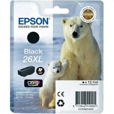 Epson 26XL Black Original Blækpatron Epson Expression Premium XP 510 | InkNu