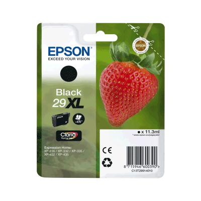 Epson 29XL Black Original Blækpatron Epson Expression Home XP 235 | InkNu