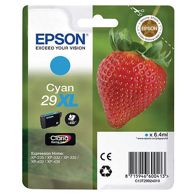 Epson 29XL Cyan Original Blækpatron Epson Expression Home XP 235 | InkNu