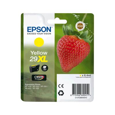 Epson 29XL Yellow Original Blækpatron Epson Expression Home XP 235 | InkNu