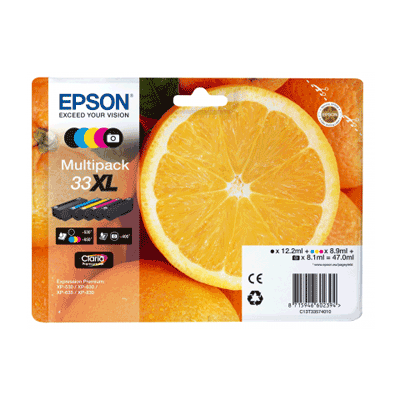 Epson 33 Standard Multipack 5-Farver Original Pakke Epson Expression Premium XP 530 | InkNu