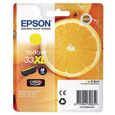 Epson 33XL Yellow Original Blækpatron Epson Expression Premium XP 530 | InkNu