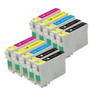 Epson T1281-T1284 10 stk. Kompatibel Multipakke Epson Stylus Office BX 305 | InkNu