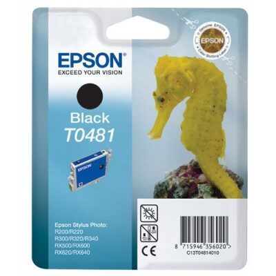 Epson T0481 Black Original Blækpatron Epson Stylus Photo R200 | InkNu