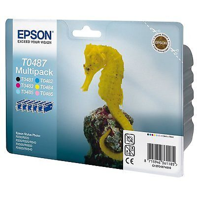 Epson T0487 Multipakke, 6 Farver Original Epson Stylus Photo R200 | InkNu
