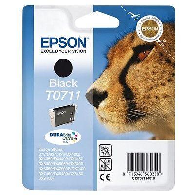 Epson T0711 Black Original Blækpatron Epson Stylus D 120 | InkNu
