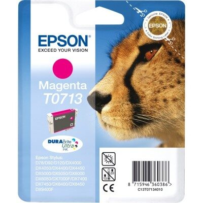 Epson T0713 Magenta Original Blækpatron Epson Stylus D 120 | InkNu