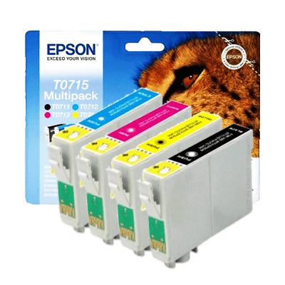 Epson T0715 Multipack Original Produkt (UDGÅET) Epson Stylus D 120 | InkNu