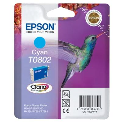 InkNu Epson T0802 Cyan Original Blækpatron