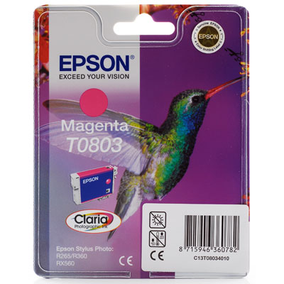 InkNu Epson T0803 Magenta Original Blækpatron