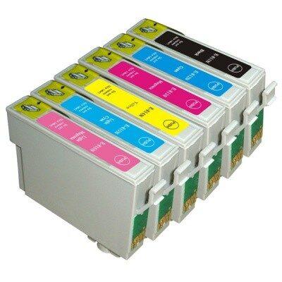 Epson T0807 Multipakke, 6 Farver Kompatibel Blækpatron Epson Stylus Photo P50 | InkNu