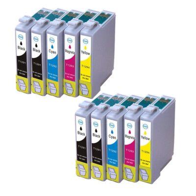 Epson T1291-T1294 10 stk. Kompatibel Multipakke Epson Stylus NX 305 | InkNu