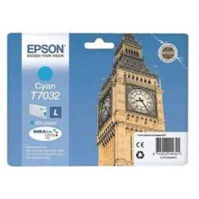 Epson T7032 L Cyan Original Blækpatron Epson WorkForce Pro WP 4015 | InkNu