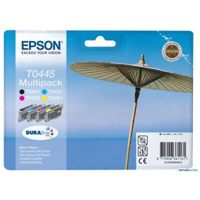 Epson T0445 Multipakke Original Blækpatron (UDGÅET) Epson Stylus C 64 | InkNu