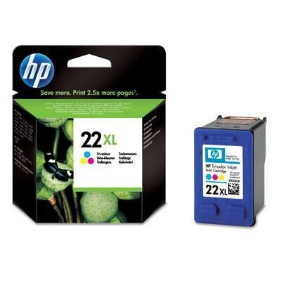 HP 22XL Tri-Colour Original Blækpatron HP DeskJet 3910 | InkNu