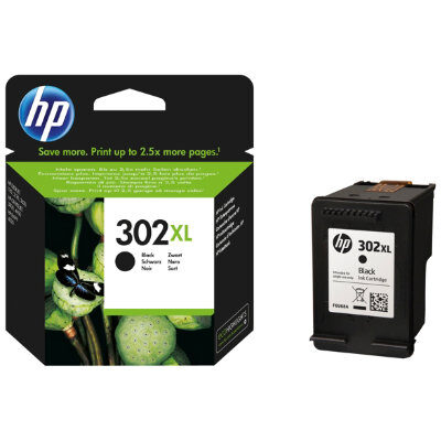 HP 302XL Black Blækpatron Original HP DeskJet 1110 | InkNu
