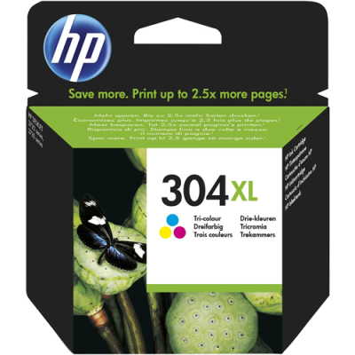 HP 304XL Tri-Colour Original Blækpatron HP DeskJet 2620 | InkNu