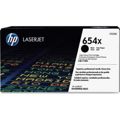 HP 654X Black Original Tonerpatron HP Color LaserJet Enterprise M 651 | InkNu