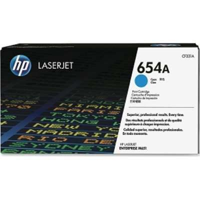 HP 654A Cyan Original Tonerpatron HP Color LaserJet Enterprise M 651 | InkNu