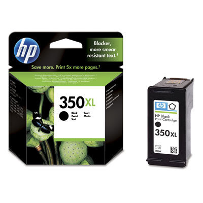 HP 350XL Black Original Blækpatron HP DeskJet D4260 | InkNu