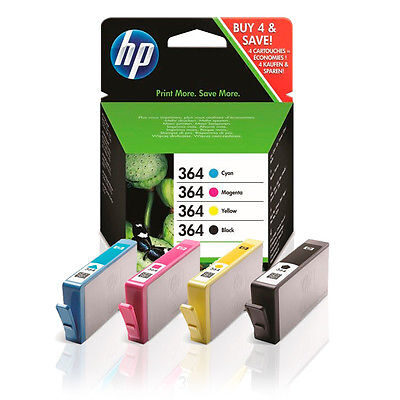 HP 364 4-Pack BK/C/M/Y Original Valuepack HP DeskJet 3070 | InkNu