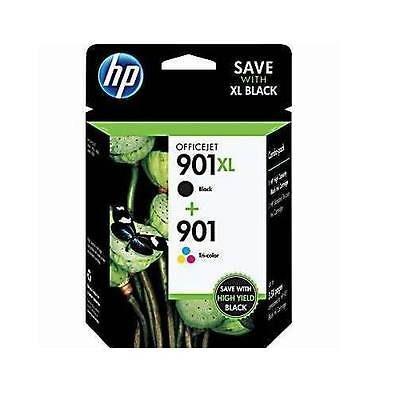 HP 901XL Black + HP 901 Color SAMPAK Original (UDGÅET) HP OfficeJet 4500 | InkNu