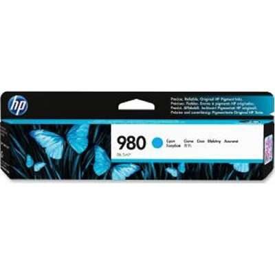 HP 980 Cyan Original Blækpatron HP OfficeJet Enterprise Color X555   InkNu